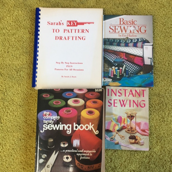 4 Vintage Sewing Books
